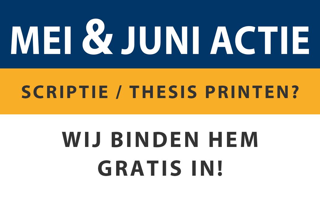 Mei & Juni Actie!