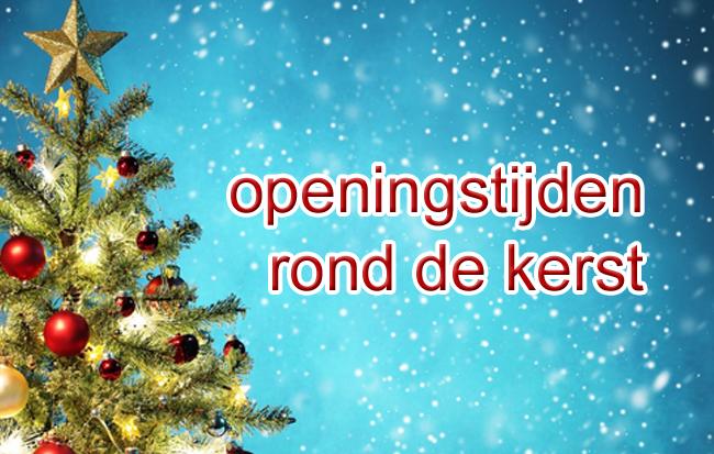 Openingstijden rond de kerst